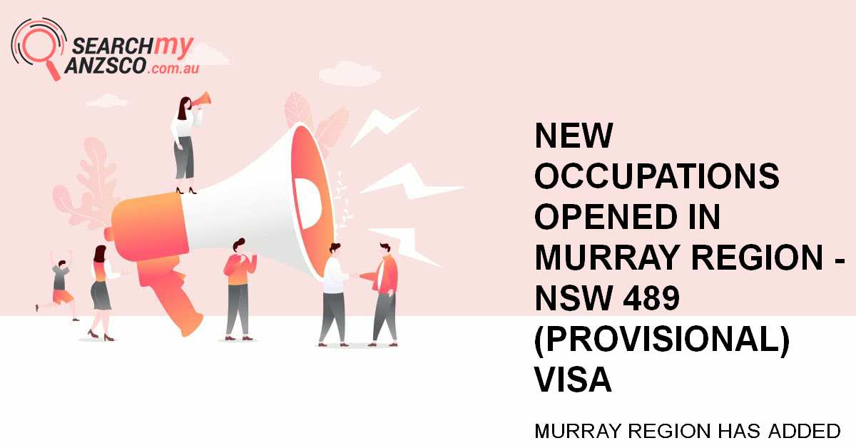New Occupations opened in Murray Region - NSW 489